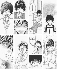 Ao Haru Ride ahahaha i can never get enough of kou's adorably ridiculous faces