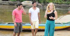 Irmãos, Bruno Gissoni e Rodrigo Simas pescam em entrevista com Angélica