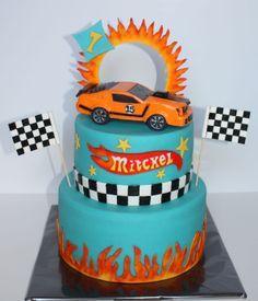 Ben 10 Birthday, Hot Wheels Birthday, Fourth Birthday, Birthday Parties, Birthday Cakes, Birthday Ideas, Hot Wheels Cake, Hot Wheels Party, Mustang Cake