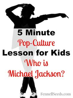 I wanted to teach my kids about Michael Jackson. This includes some fun facts about Michael Jackson that kids will think are fun plus some links to his videos. Remember when the moonwalk was introduced to the world?