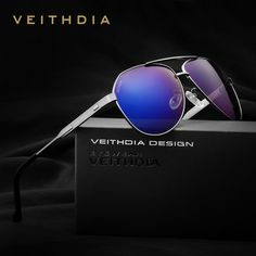 VEITHDIA Brand Stainless Steel Men's Sunglasses Polarized Mirror Lens Eyewear Accessories Sun Glasses For Men 3562