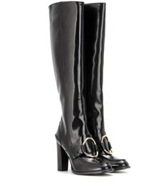 Stella McCartney - Knee-high boots - These loafer-style knee boots promise to lend a sophisticated yet seductive touch to even the simplest of outfits. - @ www.mytheresa.com