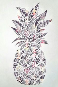 Explore Pinapple Zentangle Drawing Inspiration And More