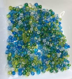 6/0 BLUE GREEN CZECH Seed Beads by CoseBelleByMaria on Etsy