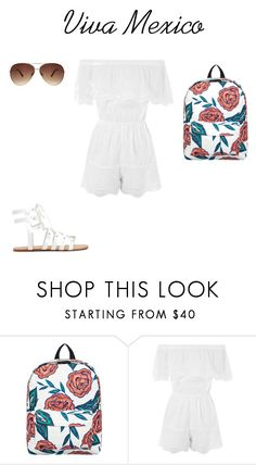 """School outfit #14 (summer)"" by thisisnotjs on Polyvore featuring Roxy, Topshop and Ashley Stewart"