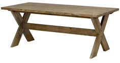 Kavari Spisebord - Grå/Brunt - 190 cm