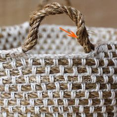 Rope basket. Make with float rope and plarn?