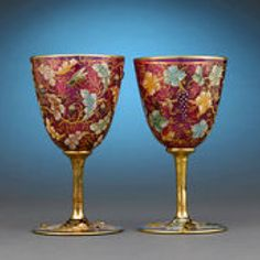 Moser Ruby Glass Goblets ca. 1890