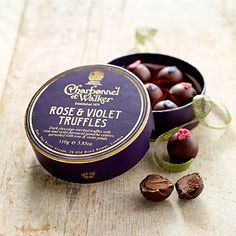ROSE & VIOLET TRUFFLES  I would so nibble this up!