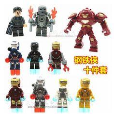Decool 10pcs Building Blocks Super Heroes Avengers Iron Man Hulk Buster Bricks Figures Toys Avengers 2 Bricks Toys For Children #Affiliate