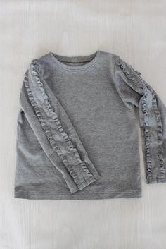 袖フリルTシャツ - enanna