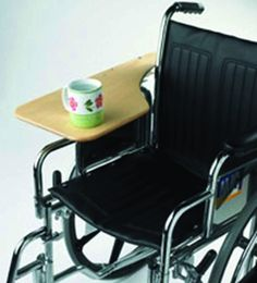 half lap tray attached to arm of wheelchair
