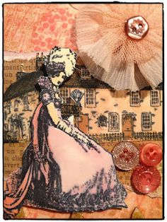 Jane Austen stamps and collage
