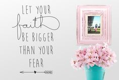 Let your faith - Twiggy Decor Vinyl Wall Stickers, Vinyl Wall Art, Let It Be, Words, Frame, Faith, Home Decor, Picture Frame, Decoration Home