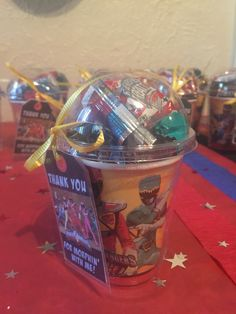 Power ranger party treat cup #powerranger More