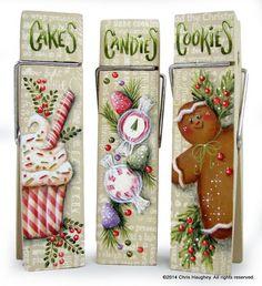 Christmas Sweet Treat Clips Pattern, $7.50 (http://www.cdwood.com/christmas-sweet-treat-clips-pattern/)
