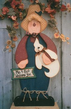 Decorative Woodcraft & Tole Painting Pattern Packets by Heidi Markish Designs Country Halloween, Halloween Items, Halloween Crafts, Halloween Decorations, Christmas Decorations, Painted Wood Crafts, Fall Wood Crafts, Wooden Crafts, Wood Craft Patterns