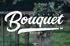 Bouquet Typeface by inumoccatype on @creativemarket