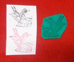 Fairy rubber stamp unmounted die faeries fae Fantasy ladies butterfly wings