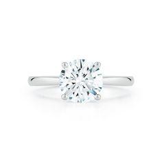 Marshall Pierce Company Chicago 3 63ct Round Brilliant Cathedral Diamond Solita Custom Engagement Ring Stunning Engagement Ring Round Brilliant Engagement Ring