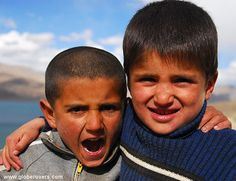 These kids live in Bulunkul Village near Yashil-Kul Lake (Green Lake) which is a very remote tiny village north of the Wakhan Valley and reportedly the coldest settlement in TAJIKISTAN