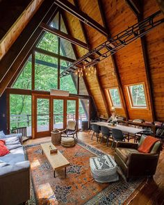 Top 6 Modern Cabin Houses We've Seen This Season - apartment decorative Apartment Therapy, Casa Loft, Loft House, Tiny House, A Frame Cabin, A Frame House, Cabins In The Woods, House In The Woods, The Cabin
