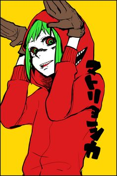 Vocaloid Gumi from Matryoshka<-- this is who you would be in the music video, TZ :)
