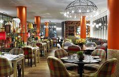 """Refuel é o restaurante do Soho Hotel, um dos mais bacanas hotéis boutique de Londres. Um dos restaurantes do guia """"100 Restaurantes em Londres""""."""