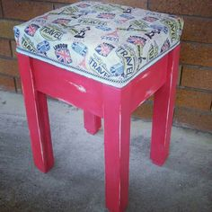 Travel Stool by Revamped by Samantha