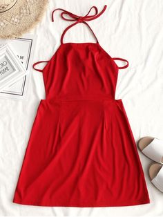 Up to 80% OFF! Drawstring Halter Open Back Mini Dress. #Zaful #Dress Zaful,zaful outfits,zaful dresses,spring outfits,summer dresses,Valentine's Day,valentines day ideas,super bowl,saint patrick, st patricks,easter, easter ideas,cute,classy,dress,long dress,maxi dress,mini dress,long sleeve dress,flounced dress,vintage dress,casual dress,lace dress,boho dress, flower dresses,maxi dresses,floral dresses,long dress,party dress,bohemian dresses,floral dress @zaful Extra 10% OFF Code:ZF2017