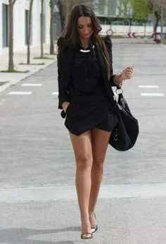 LoLoBu - Women look, Fashion and Style Ideas and Inspiration, Dress and Skirt Look Estilo Fashion, Look Fashion, Fashion Outfits, Womens Fashion, Fashion Trends, Fashion 2015, Street Fashion, Fall Fashion, Looks Street Style