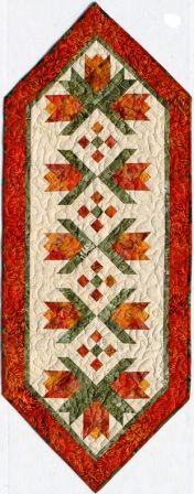 Flower Power Tablerunner Quilt Pattern from Vermont Quilt Design