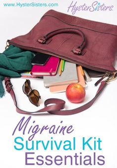 What should I keep in my migraine survival kit? http://MigraEase.com #migraine #headache #natural