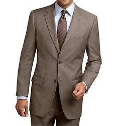 MEN'S TWO BUTTON TAUPE SUIT
