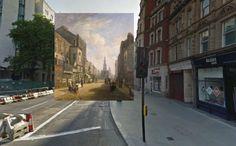 the strand - Pinturas de Londres del Siglo XVIII pegadas en la vista de Google Street View - http://2ba.by/12nbt