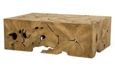 Milo Teak Coffee Table - Coffee - Tables - Furniture | Jayson Home  $1,395