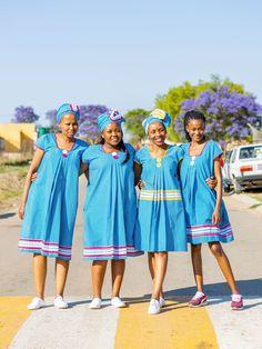Pedi Traditional Attire, Sepedi Traditional Dresses, African Traditional Wear, I Dress, Shirt Dress, African Wedding Attire, Latest African Fashion Dresses, African Prints, Wedding Ideas