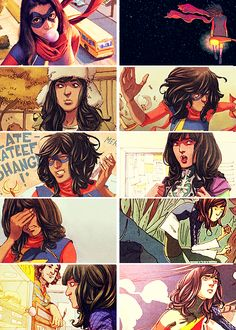 i have never related to anything more than i have with ms. marvel and i would like to thank god for giving us this perfect human being