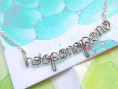Ho'oponopono Necklace - Hawai'ian prayer of love, healing and forgiveness - Silver Hawai'i Spiritual Jewelry