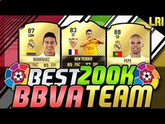 www.fifa-planet.c... - FIFA 17   'BEST 200K LIGA BBVA SQUAD BUILDER EVER!' - FIFA 17 ULTIMATE TEAM Hey Guys! Welcome today to THE BEST 200K LIGA BBVA Squad Builder! If you want to see more then Hit the Like Button and Subscribe if you are new to the Channel! ENJOY! SOCIAL MEDIA LINKS: =================================================================== ►►Subscribe to LRIGillyNJ