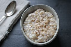 Close Up Brown Rice Chia Pudding
