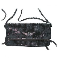 ROCK SNAKE CLUTCH BAG ZADIG VOLTAIRE ($230) ❤ liked on Polyvore featuring bags, handbags, clutches, black clutches, zadig & voltaire, rock handbags, snake handbag and black purse