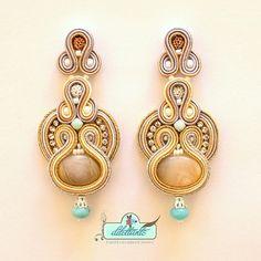 Soutache Earrings Swarovski Crystal by DILETTANTEsoutache on Etsy, $150.00