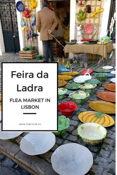 Saturday/Tuesday in Lisbon? Visit the oldest flea market in the city, Feira da Ladra. Follow In A Circle Blog for more travel tips : www.inacircle.co