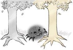 Ungoliant and the Two Trees (OMG. GivenClarity's Drawblog is the BEST. xD)