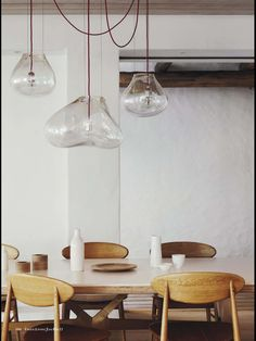 Dining room pendent lighting