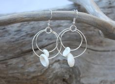 Puka Shell Earrings Puka Shell Jewelry Beach by DRaeDesigns, $12.00