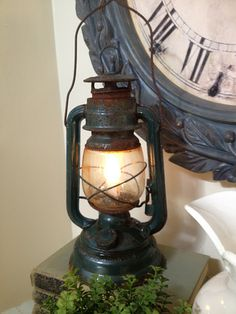 DIY~ Turn an old lantern into a night light- it seems pretty easy.