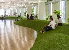 park-like green office by 07beach simulates recreational ground to promote productivity