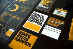 99% Conference 2010: Branded Materials by Matias Corea, via Behance